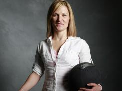 Mickey Kelly poses for a portrait at the 2008 Olympic Media Summit. She's training for a spot on the 2012 Olympic team.