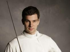 Saber fencer Tim Morehouse in a 2008 portrait. Morehouse, a silver medalist at the 2008 Summer Games in Beijing, was a member of the saber team that won a bronze medal at the Moscow World Cup last weekend.