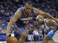Boris Diaw, shown stealing hte ball from the Hornets' Jarrett Jack on March 12, is free to join another team, his agent said.