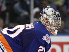 New York Islanders goalie Evgeni Nabokov will be back for another season.
