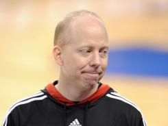 Bearcats head coach Mick Cronin during practice the day before the Sweet 16.
