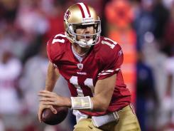 Alex Smith is coming off a breakthrough season in which he threw for a career-high 3,150 yards and led the 49ers to the NFC title game.