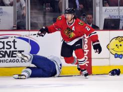 Chicago defenseman Duncan Keith hit Vancouver's winger Daniel Sedin twice during the first period of their game on Wednesday.