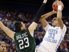 North Carolina forward John Henson helped lead the Tar Heels into the Elite Eight.