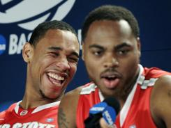 Thomas (right) is averaging 25 points a game in the tournament (his 75 total points are the most for any player through Thursday's games). Sullinger, a two-time All-American, is averaging 17.7 points and shooting 44.4% from the floor and 85.7% from the line. Both players are averaging 8.7 rebounds.