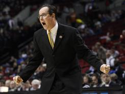 Wichita State head coach Gregg Marshall is pictured here during the first half of an NCAA tournament second round game.