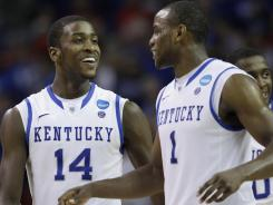 The day before the Sweet 16 game, Michael Kidd-Gilchrist, left, and Darius Miller and the rest of the team were taking in the movie 21 Jump Street.