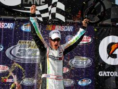 Joey Logano became the first non-Nationwide Series regular to win a race in the second-level NASCAR series. He won the Royal Purple 300 on Saturday, the season's fifth race.