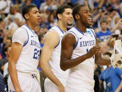 Kentucky has won four NCAA tournament games by an average of 13.8 points.