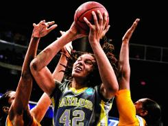 Baylor's Brittney Griner (42) leads the Bears to the Final Four.