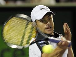 Andy Roddick defeated Roger Federer 7-6 (7-4), 1-6, 6-4 for just his thrid win in 24 career meetings.