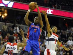 Detroit Pistons guard Rodney Stuckey hit the game-winning shot with 0.2 seconds left to beat the Washington Wizards on Monday.
