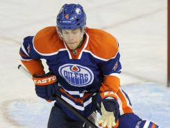 The Oilers' Taylor Hall will be sidelined for the rest of the season because of shoulder surgery.