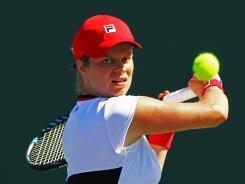 Kim Clijsters of Belguim will be out for four weeks because of a hip injury.
