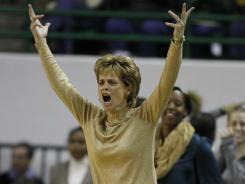 Baylor coach Kim Mulkey has her team unbeaten and headed to the Final Four in Denver.