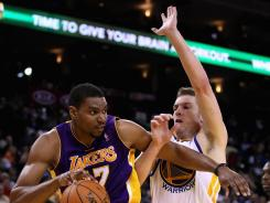 Center Andrew Bynum was the latest Los Angeles Laker benched by first-year coach Mike Brown.
