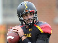 Ex-Maryland quarterback Danny O'Brien is shown here prior to the Terps' game against West Virgina last fall.