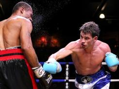Chris Algieri, right, defeated Curtis Smith by unanimous decision in January at the Paramount Theater in Huntington, N.