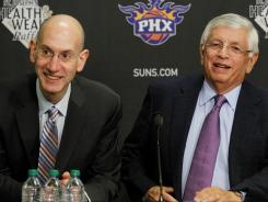 NBA Commissioner David Stern, right, is all in favor of keeping players from entering the league's draft out of high school. The league and the NBA players union will discuss that after the season.