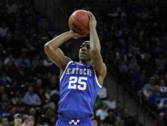 Kentucky guard Marquis Teague is pictured here during the Wildcats' game against South Carolina earlier this season.