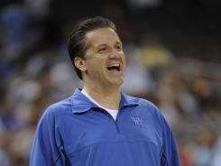Kentucky head coach John Calipari looks on during his team's practice on Friday.