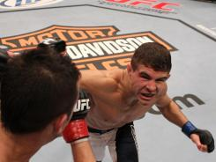 Al Iaquinta, facing camera, brought a 5-1 professional record to 'The Ultimate Fighter' in Las Vegas.