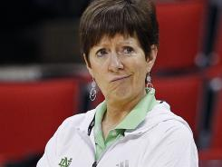 Notre Dame coach Muffet McGraw and Connecticut coach Geno Auriemma, her Final Four foe Sunday, are squaring off for the eighth time in the past two seasons.