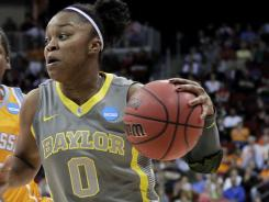 Baylor's Odyssey Sims, a finalist for the Nancy Lieberman Award as the best point guard in women's basketball, is second on the team with a 14.8 scoring average.
