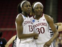 Teammates say the tight bond between Nneka Ogwumike, right, and her sister Chiney permeates the entire Stanford roster.