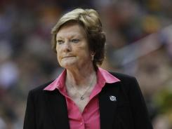 Tennessee coach Pat Summitt is pictured here in the second half of an NCAA women's college basketball tournament regional final against Baylor.