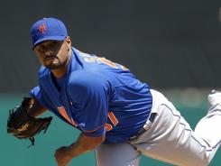 Johan Santana, a two-time Cy Young Award winner, has not started a regular season game in 19 months.