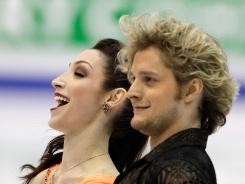 Ice dancers Meryl Davis and Charlie White perform during their ice dance short program at the 2012 World Figure skating Championships in Nice, France on March 28. Davis and White won the silver medal.