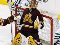 Ironman goalie Kent Patterson, who has started every game this season, is of 23 Minnesotans on the Golden Gophers' roster.