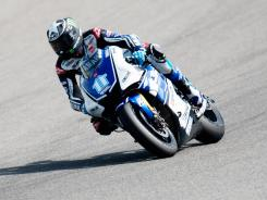 U.S. rider Ben Spies of Yamaha Factory Racing rounds the bend during MotoGP testing at Circuito de Jerez in late March.