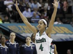 Skylar Diggins and Notre Dame hope to raise their arms in celebration one more time this season.