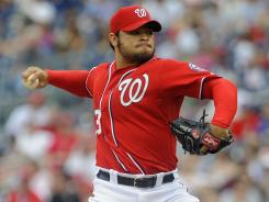 Washington Nationals relief pitcher Henry Rodriguez could be a candidate for save opportunities if he can reduce the number of walks he gives up.