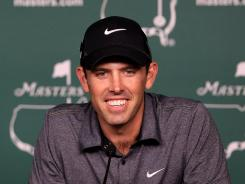 Charl Schwartzel of South Africa smiles at the recollection of how he won the 2011 Masters during his news conference Tuesday.