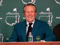 Gary Player, speaking to the news media Tuesday, will join Arnold Palmer and Jack Nicklaus as an honorary starter Thursday.