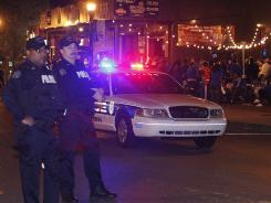 Police in Lexington were out in force early Monday night and making arrests soon after the title game ended.