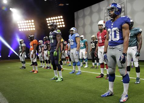 Nike unveils new NFL uniforms