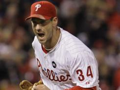 The Phillies are spending $21.5 million of their $174.5 million payroll in 2012 on pitcher Cliff Lee, above.