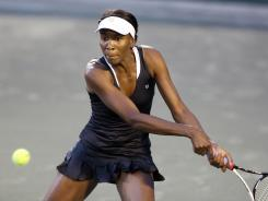 Venus Williams, playing a backhand vs. Jelena Jankovic, got stronger as Wednesday's match went on.