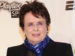 Billie Jean King will join the other members of the Original 9, the founders of the WTA, on Saturday at the Family Circle Cup in Charleston, S.C.