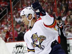Right wing Mikael Samuelsson and his Florida Panthers will end their playoff drought after the Buffalo Sabres lost to the Philadelphia Flyers, allowing the Panthers and the Washington Capitals to enter the post-season.