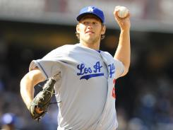Dodgers starter Clayton Kershaw struck out three and gave up two hits through three innings. He departed the game with flu-like symptoms.
