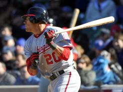 Ian Desmond's RBI in the ninth inning gives the Nationals a 2-1 lead against the Cubs.