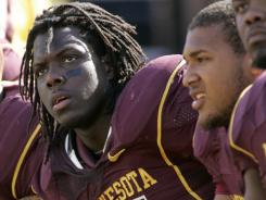 Minnesota linebacker Gary Tinsley was second on the team in tackles as a senior.