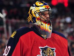 Florida goalie Scott Clemmensen had 33 saves in the Panthers' 4-1 win over Carolina on Saturday at Sunrise, Fla.