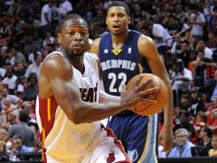 Dwyane Wade was injured Friday against the Grizzlies.