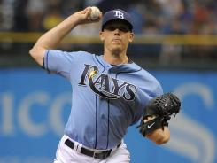 Rays starting pitcher Jeremy Hellickson was celebrating his 25th birthday in his win against the Yankees.